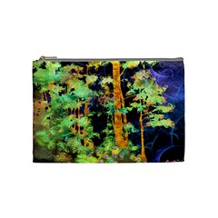 Abstract Trees Flowers Landscape Cosmetic Bag (Medium)