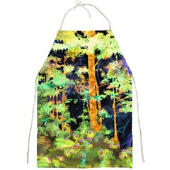 Abstract Trees Flowers Landscape Full Print Aprons