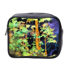 Abstract Trees Flowers Landscape Mini Toiletries Bag 2-Side