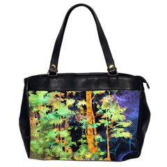 Abstract Trees Flowers Landscape Office Handbags (2 Sides)