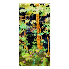 Abstract Trees Flowers Landscape Shower Curtain 36  x 72  (Stall)