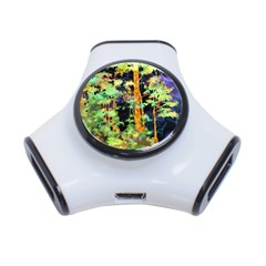Abstract Trees Flowers Landscape 3-Port USB Hub