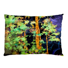 Abstract Trees Flowers Landscape Pillow Case (Two Sides)