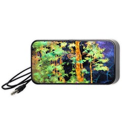 Abstract Trees Flowers Landscape Portable Speaker (Black)