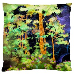 Abstract Trees Flowers Landscape Large Cushion Case (two Sides)