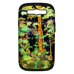 Abstract Trees Flowers Landscape Samsung Galaxy S Iii Hardshell Case (pc+silicone)