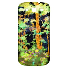 Abstract Trees Flowers Landscape Samsung Galaxy S3 S III Classic Hardshell Back Case