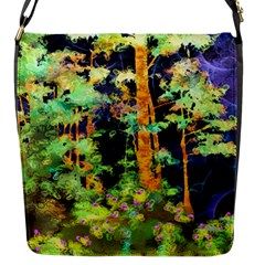 Abstract Trees Flowers Landscape Flap Messenger Bag (S)
