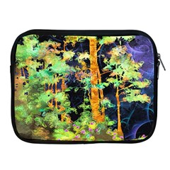 Abstract Trees Flowers Landscape Apple Ipad 2/3/4 Zipper Cases