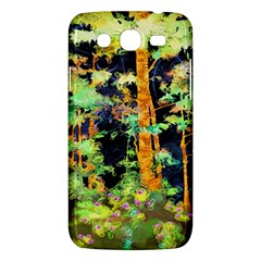 Abstract Trees Flowers Landscape Samsung Galaxy Mega 5.8 I9152 Hardshell Case