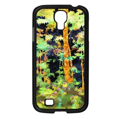 Abstract Trees Flowers Landscape Samsung Galaxy S4 I9500/ I9505 Case (Black)