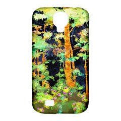 Abstract Trees Flowers Landscape Samsung Galaxy S4 Classic Hardshell Case (PC+Silicone)