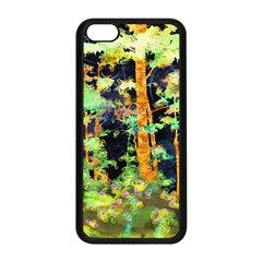 Abstract Trees Flowers Landscape Apple Iphone 5c Seamless Case (black)