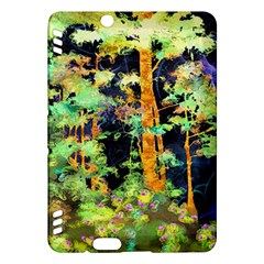 Abstract Trees Flowers Landscape Kindle Fire Hdx Hardshell Case