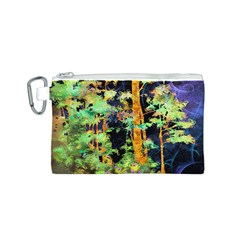 Abstract Trees Flowers Landscape Canvas Cosmetic Bag (s)