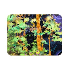Abstract Trees Flowers Landscape Double Sided Flano Blanket (Mini)
