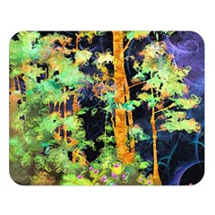Abstract Trees Flowers Landscape Double Sided Flano Blanket (Large)