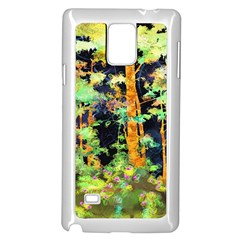 Abstract Trees Flowers Landscape Samsung Galaxy Note 4 Case (White)