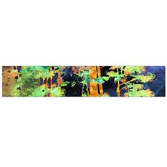 Abstract Trees Flowers Landscape Flano Scarf (Large)