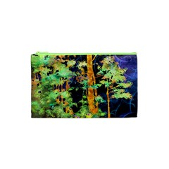 Abstract Trees Flowers Landscape Cosmetic Bag (xs)