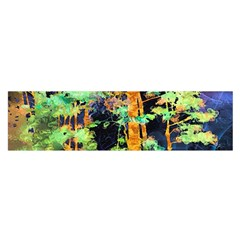 Abstract Trees Flowers Landscape Satin Scarf (oblong)