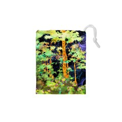 Abstract Trees Flowers Landscape Drawstring Pouches (XS)