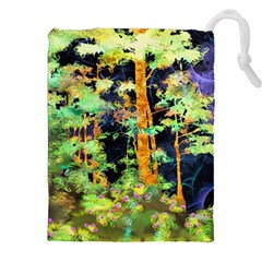 Abstract Trees Flowers Landscape Drawstring Pouches (XXL)