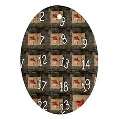 Advent Calendar Door Advent Pay Ornament (Oval)