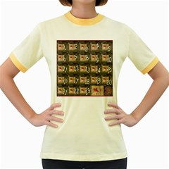 Advent Calendar Door Advent Pay Women s Fitted Ringer T-Shirts