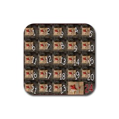 Advent Calendar Door Advent Pay Rubber Coaster (Square)