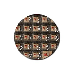 Advent Calendar Door Advent Pay Rubber Round Coaster (4 pack)