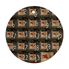 Advent Calendar Door Advent Pay Round Ornament (two Sides)