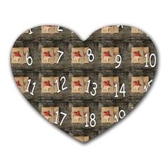 Advent Calendar Door Advent Pay Heart Mousepads