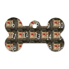 Advent Calendar Door Advent Pay Dog Tag Bone (Two Sides)