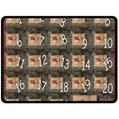 Advent Calendar Door Advent Pay Fleece Blanket (Large)