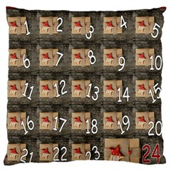 Advent Calendar Door Advent Pay Large Flano Cushion Case (Two Sides)