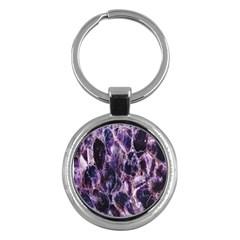 Agate Naturalpurple Stone Key Chains (round)
