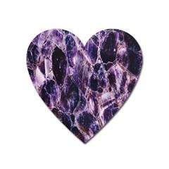 Agate Naturalpurple Stone Heart Magnet