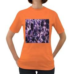 Agate Naturalpurple Stone Women s Dark T Shirt