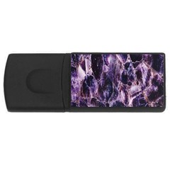 Agate Naturalpurple Stone Usb Flash Drive Rectangular (4 Gb)