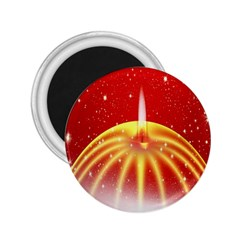 Advent Candle Star Christmas 2.25  Magnets