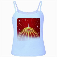 Advent Candle Star Christmas Baby Blue Spaghetti Tank