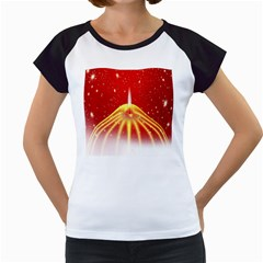 Advent Candle Star Christmas Women s Cap Sleeve T