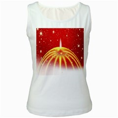 Advent Candle Star Christmas Women s White Tank Top
