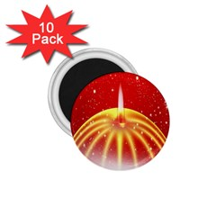 Advent Candle Star Christmas 1.75  Magnets (10 pack)