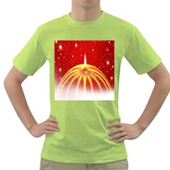 Advent Candle Star Christmas Green T-Shirt