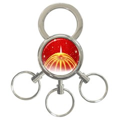 Advent Candle Star Christmas 3-Ring Key Chains