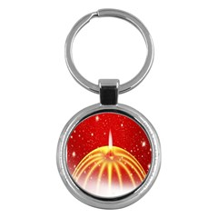 Advent Candle Star Christmas Key Chains (Round)