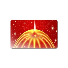 Advent Candle Star Christmas Magnet (Name Card)