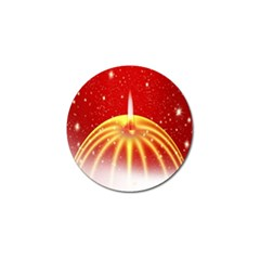 Advent Candle Star Christmas Golf Ball Marker